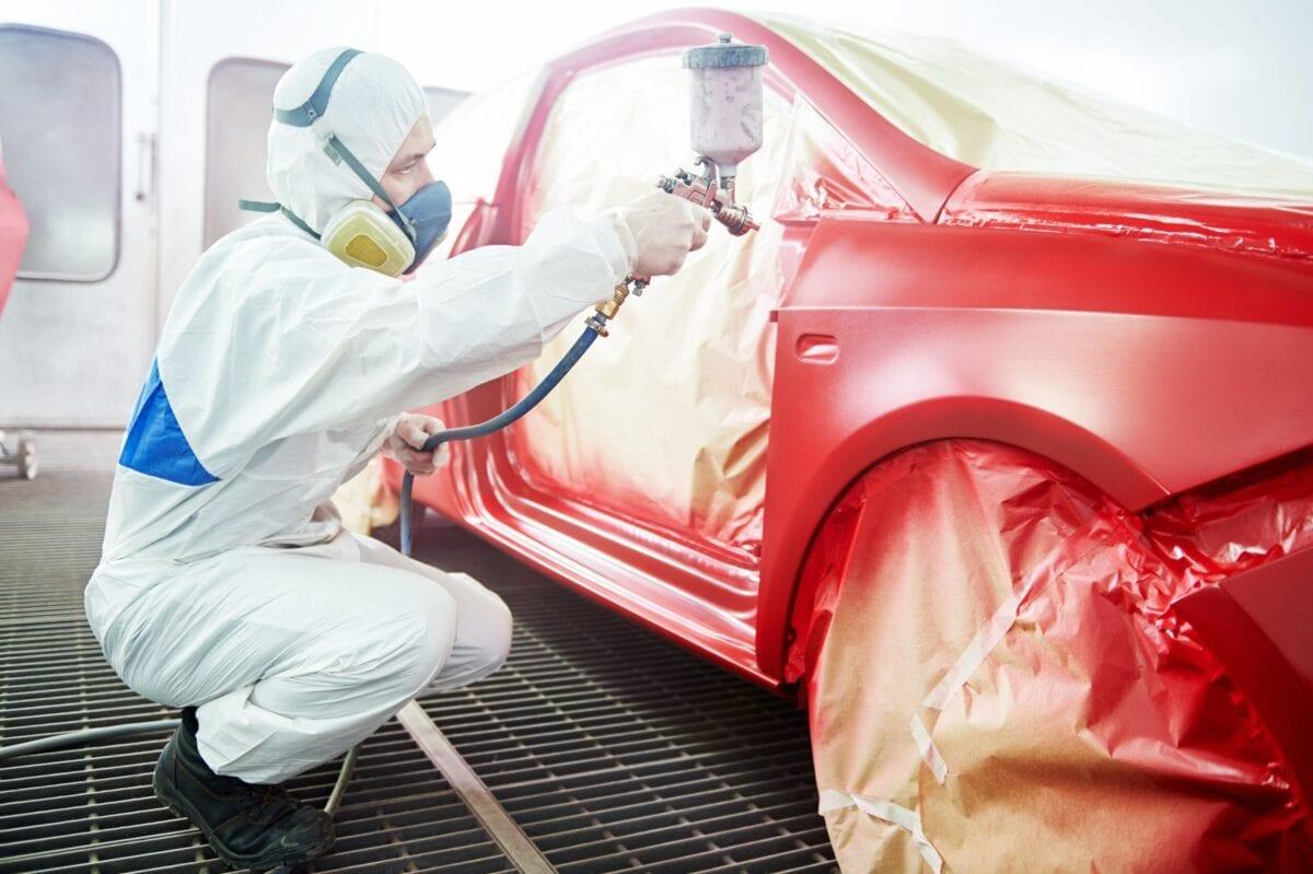 pintando auto sobre tendencias de colores de autos